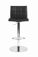 Euro Style Cyd Adjustable Swivel Bar/Counter Stool in Black With Chrome Base
