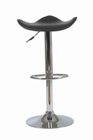 Euro Style Fabia Adjustable Swivel Bar/Counter Stool in Black With Chrome Base