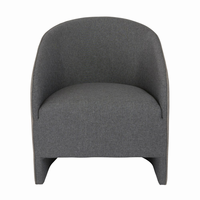 Euro Style Fela Lounge Chair in Charcoal and Dark Gray Fabric
