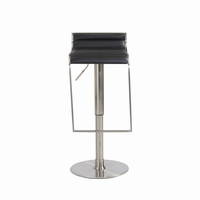 Euro Style Forest Adjustable Swivel Bar/Counter Stool in Black