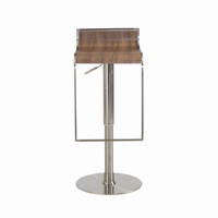 Euro Style Forest Adjustable Swivel Bar/Counter Stool in Walnut