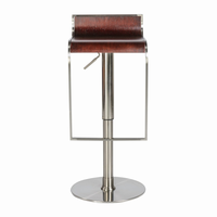 Euro Style Forest Adjustable Swivel Bar/Counter Stool in Wenge