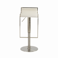 Euro Style Forest Adjustable Swivel Bar/Counter Stool in White