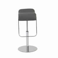 Euro Style Freddy Adjustable Swivel Bar/Counter Stool in Gray With Chrome Base