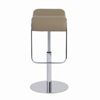 Euro Style Freddy Adjustable Swivel Bar/Counter Stool in Taupe With Chrome Base