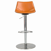 Euro Style Rudy Adjustable Swivel Bar/Counter Stool in Cognac