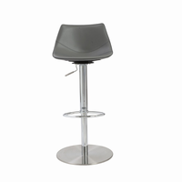 Euro Style Rudy Adjustable Swivel Bar/Counter Stool in Gray