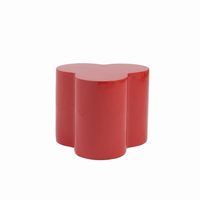 Euro Style Sloan Fiberglass Stool in High Gloss Red
