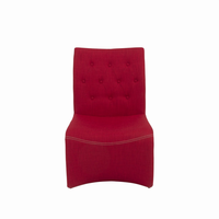Euro Style Ville Lounge Chair in Red, Set of 2