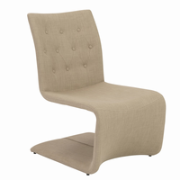 Euro Style Ville Lounge Chair in Tan, Set of 2