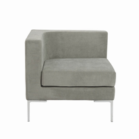 Euro Style Vittorio Sofa With Arm Rests in Gray