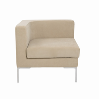 Euro Style Vittorio Sofa With Arm Rests in Tan