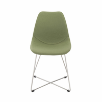 Eurostyle Anahita Green Fabric/Brushed Stainless Steel Side Chair (Set of 4)