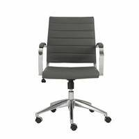 Eurostyle Axel Gray/Aluminum Low Back Office Chair