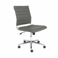 Eurostyle Axel Gray/Aluminum Low Back without Arms Office Chair