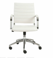 Eurostyle Axel White/Aluminum Low Back Office Chair