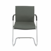 Eurostyle Baird Gray Visitor Chair (Set of 2)