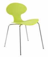 Eurostyle Becky Apple Green/Chrome Stack Chair (set of 4)