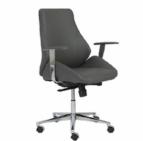 Eurostyle Bergen Gray/Chrome Low Back Office Chair
