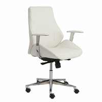 Eurostyle Bergen White/Chrome Low Back Office Chair