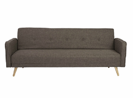 Eurostyle Bertram Brown Sofa Bed With Armrest