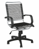 Eurostyle Bradley-High Back Bungie Black/Aluminum Office Chair