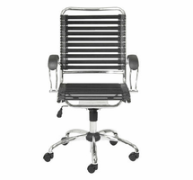 Eurostyle Bungie Black/Chrome Flat J-Arm Office Chair