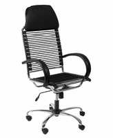 Eurostyle Bungie Executive High Back Black/Chrome Office Chair