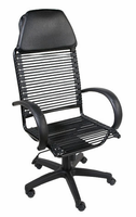 Eurostyle Bungie Executive High Back Black/Graphite Black Office Chair
