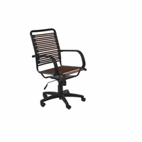 Eurostyle Bungie Flat High Back Office Chair in Brown/Graphite Black