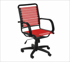 Eurostyle Bungie Flat High Back Office Chair in Red/Graphite Black