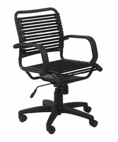 Eurostyle Bungie Flat Mid Back Office Chair in Black/Graphite Black