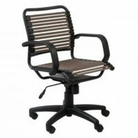 Eurostyle Bungie Flat Mid Back Office Chair in Brown/Graphite Black