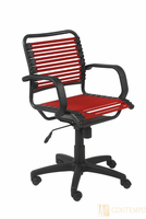 Eurostyle Bungie Flat Mid Back Office Chair in Red/Graphite Black