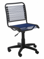 Eurostyle Bungie Low Back Office Chair in Blue/Graphite Black