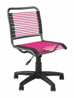 Eurostyle Bungie Low Back Office Chair in Pink/Graphite Black