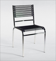 Eurostyle Bungie-S Black/Chrome Stacking Chair (Set of 4)