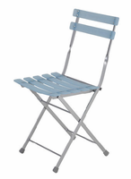 Eurostyle Cannes Blue/Aluminum Folding Chair (set of 4)