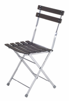 Eurostyle Cannes Graphite Black/Aluminum Folding Chair (set of 4)