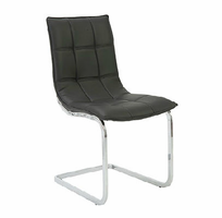 Eurostyle Chad Black/Chrome Side Chair (Set of 2)