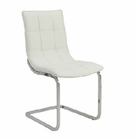 Eurostyle Chad White/Chrome Side Chair (Set of 2)