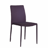 Eurostyle Chessa-LB Purple Side Chair (Set of 4)