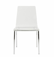 Eurostyle Chloe Clear/Chrome Side Chair (Set of 4 )