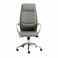 Eurostyle Crosby Gray/Aluminum High Back Office Chair