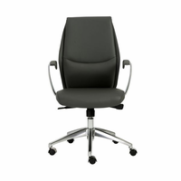 Eurostyle Crosby Gray/Aluminum Low Back Office Chair