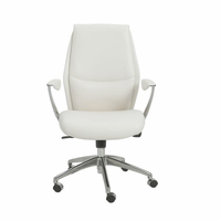 Eurostyle Crosby White/Aluminum Low Back Office Chair