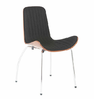 Eurostyle Curt Black Side Chair ( Set of 2)