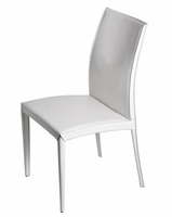 Eurostyle Dafney White Leather Chair (set of 2)