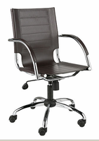 Eurostyle Dave Leather Brown/Chrome Office Chair