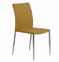 Eurostyle Diana Saffron/Stainless Steel Stacking Chair (set of 4)